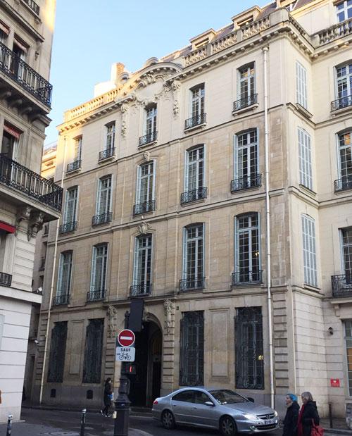L'hôtel Sulkowski : la façade sur rue