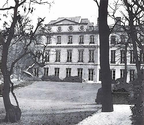 Hôtel de La Meilleraye : façade sur le jardin