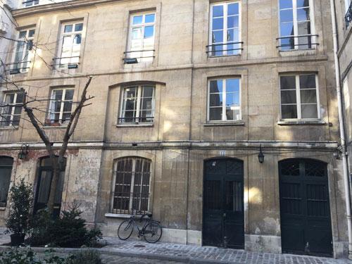 Les vestiges de l'hôtel de Mesmes : la partie subistante de l'aile droite de l'hôtel