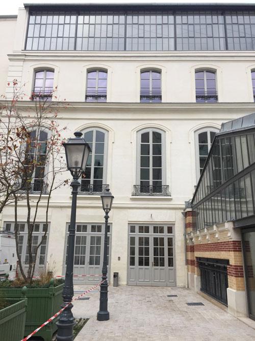 L'hôtel Cromot du Bourg : l'aile gauche dans la cour, après rénovation