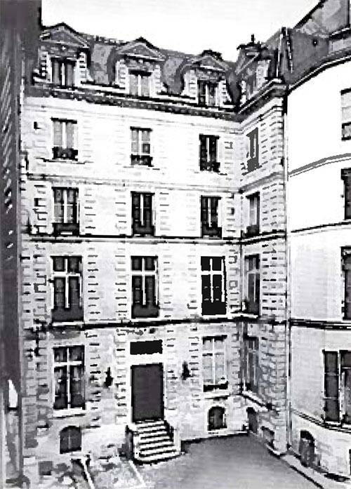 L'hôtel de Vassan : la façade sur cour
