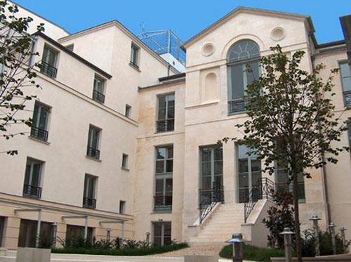 L'hôtel Bertin : la façade sur le jardin