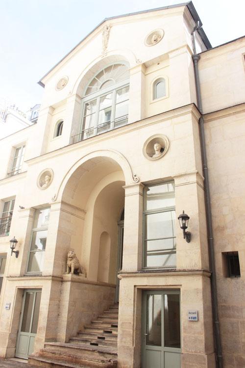 L'hôtel Bertin : la façade sur cour