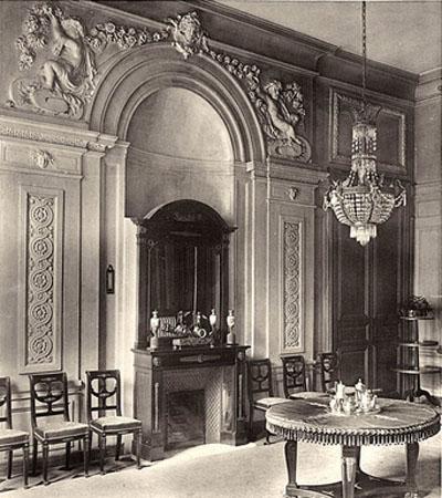L'Hôtel de Sénecterre : la niche de la salle à manger (photographie ancienne)