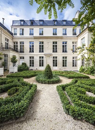 L'Hôtel de Sénecterre : la façade sur le jardin