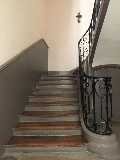 L'hôtel de Vougny : l'escalier