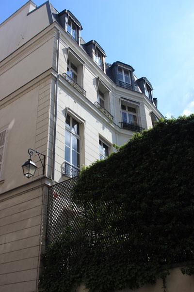 L'hôtel Daru : la façade donnant sur le jardin