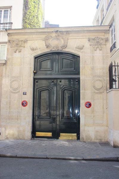 L'hôtel Daru : le portail a été déplacé rue de Bellechasse