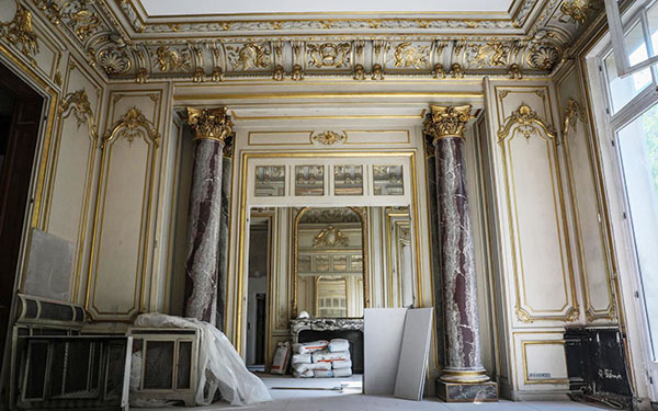 L'hôtel Gaillard : un salon inspiré du XVIIIe siècle