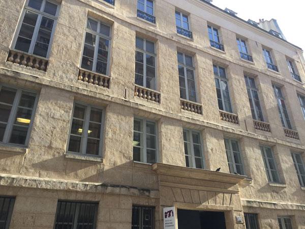 L'hôtel de Melun : la façade sur rue