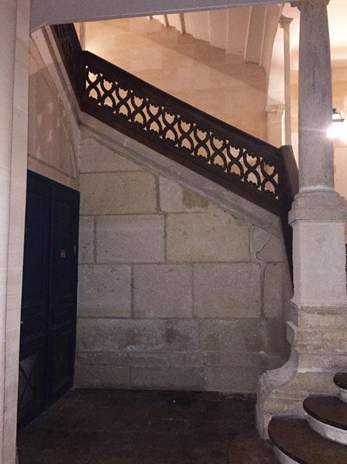 L'hôtel de Melun : l'escalier