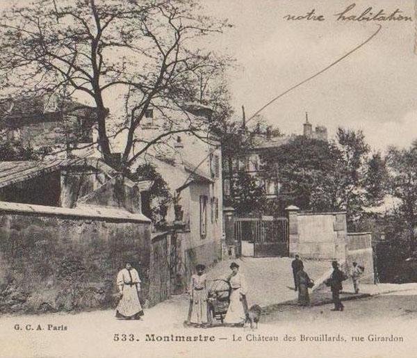 Le château des Brouillards : l'entrée rue Girardon
