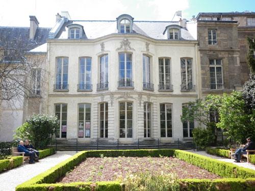 L'hôtel de Fontenay : la façade sur le jardin