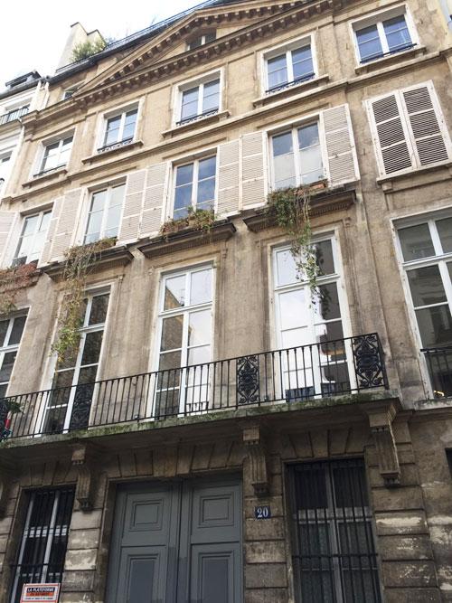La maison Blondel : la façade sur rue