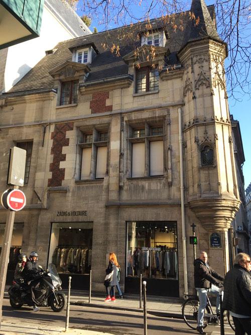 L'hôtel Hérouet : façade sur la rue Vieille du Temple