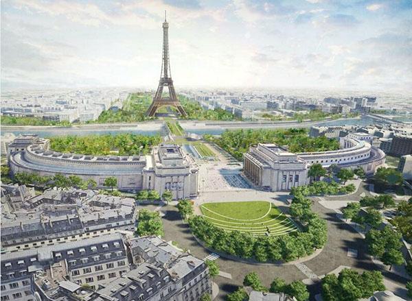 La nouvelle place du Trocadéro