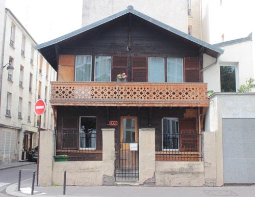 Chalet alpin, rue de Meaux