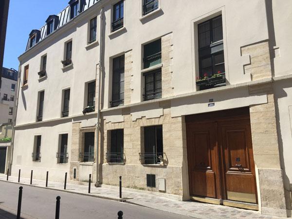 Le couvent des Filles anglaises : la façade sur rue