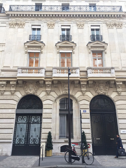 L'hôtel de Rohan-Montbazon : le bâtiment sur rue construit au XIXe siècle