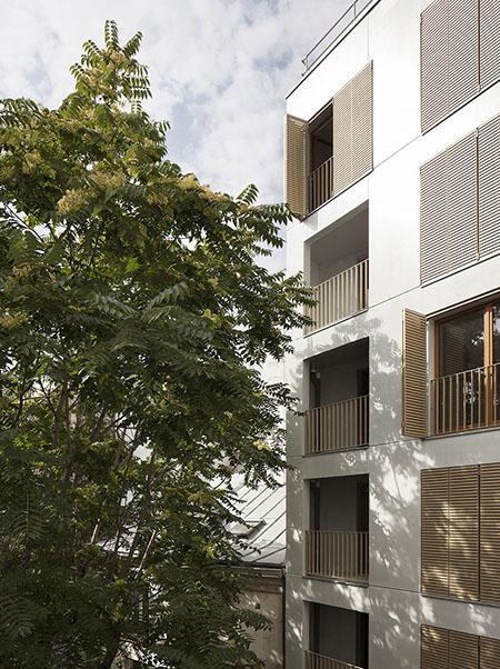 Logements 179 rue Saint-Maur : la façade sud