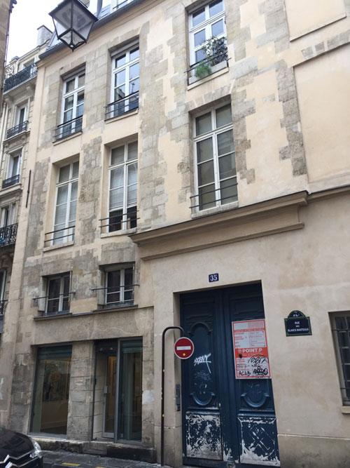 L'hôtel de La Grange Trianon : la façade sur rue