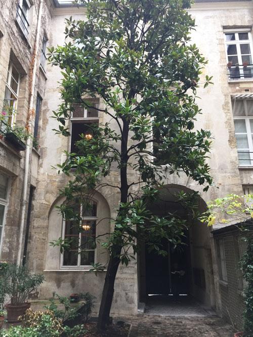L'hôtel de La Grange Trianon : la façade sur cour