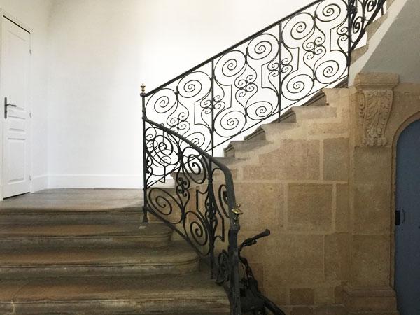 L'hôtel Bence : l'escalier d'honneur