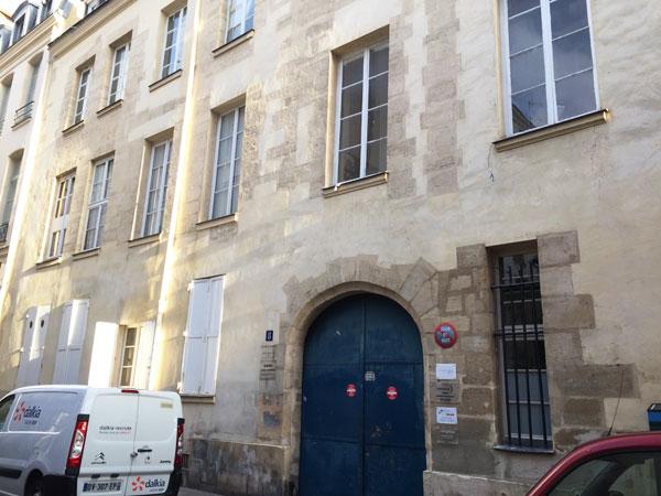 L'hôtel Bence : la façade sur rue du logis