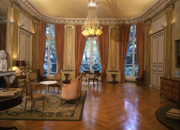 L'hôtel Turgot : le grand salon en rotonde