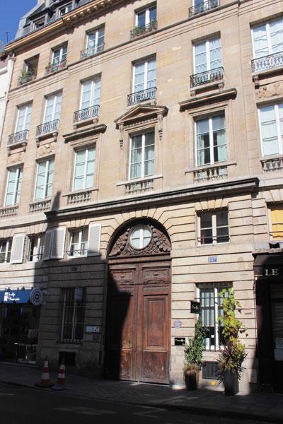 La maison Guérard : façade rue Vieille du Temple