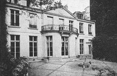 L'hôtel Turgot abritant la fondation Custodia : façade sur le jardin