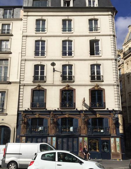 Restaurant La Pérouse : la façade sur le quai