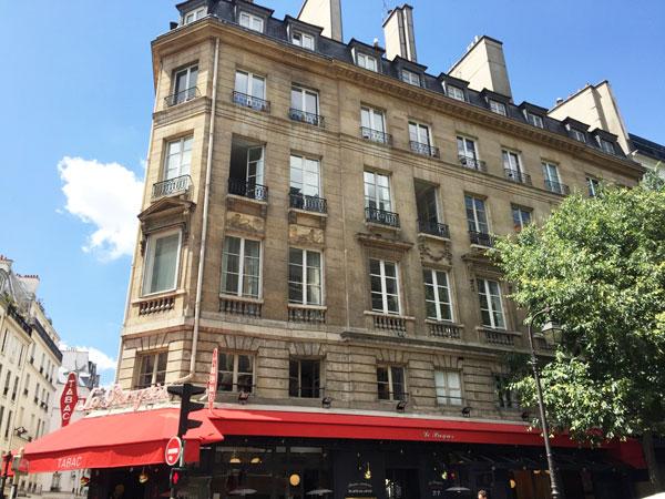 La maison Guérard : façade rue de Bretagne