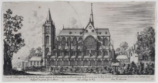 L'abbaye Saint-Victor - Illustration ancienne