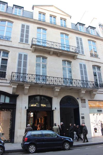 L'hôtel de Mme Geoffrin : la façade sur la rue Saint-Honoré