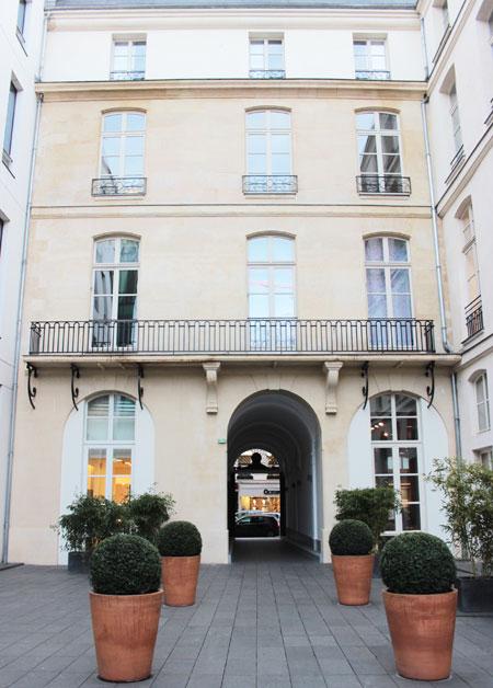 L'hôtel de Mme Geoffrin : la façade sur la cour