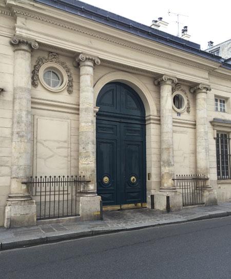L'hôtel de Jaucourt - Le portail