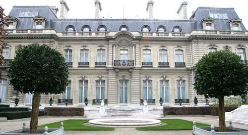 L'hôtel de Marigny : la façade sur le jardin