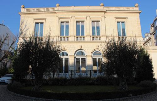 L'hôtel de Wurtemberg : la façade sur le jardin