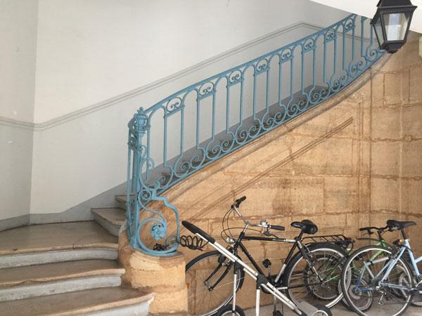 La maison Chuppin : escalier de l'aile droite