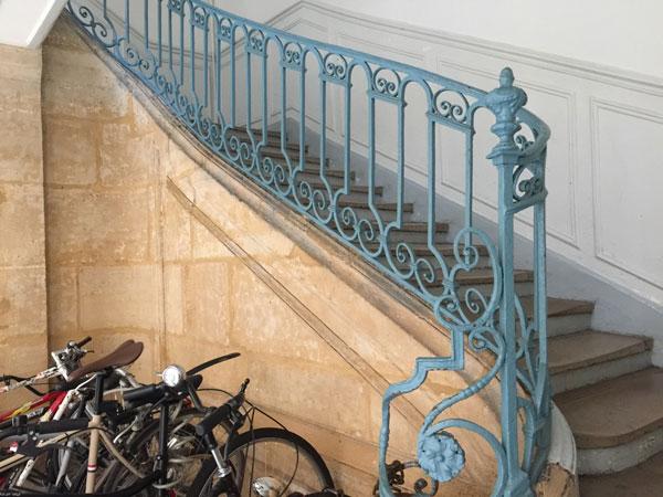 La maison Chuppin : escalier de l'aile gauche