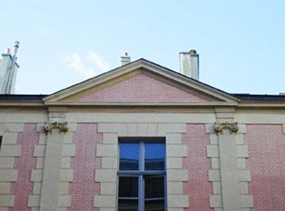 L'hôtel de Lauzon : détail du fronton