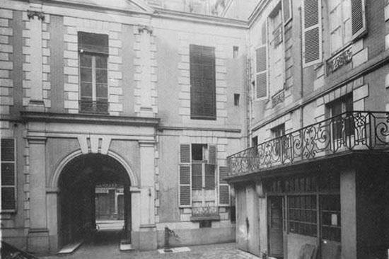 L'hôtel de Lauzon : le revers du bâtiment sur rue et l'aile droite