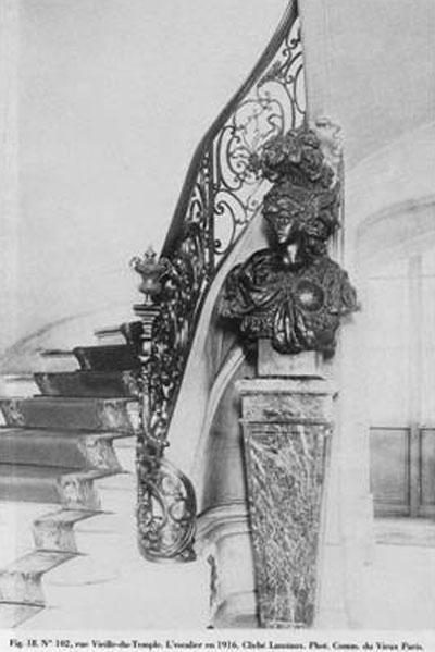 L'hôtel de Lauzon : la rampe d'escalier