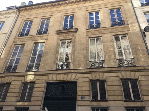 L'hôtel de Sommery - Façade sur la rue