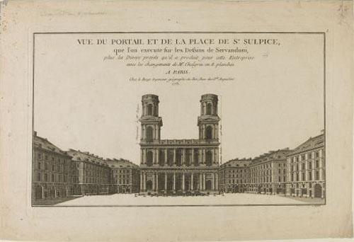 La place Saint-Sulpice : projet de Servandoni