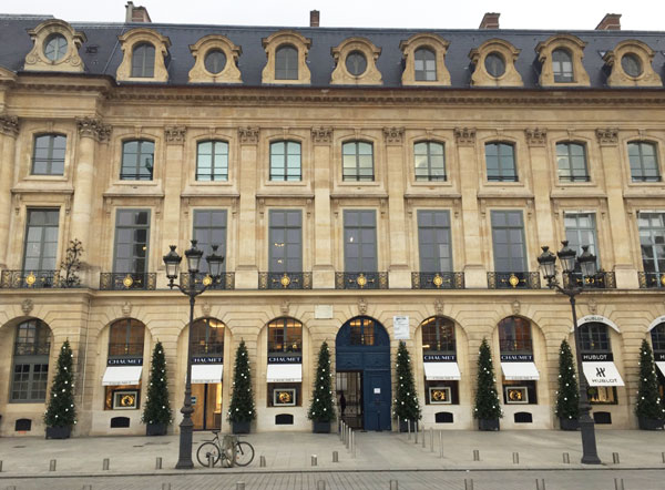 L'hôtel Baudard de Saint-james : la façade sur la place Vendôme