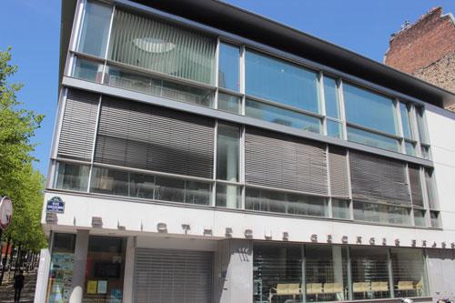 La bibliothèque Georges Brassens : façade sur rue