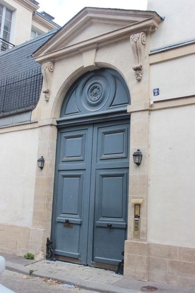 L'hôtel de Sillery-Genlis - Le portail