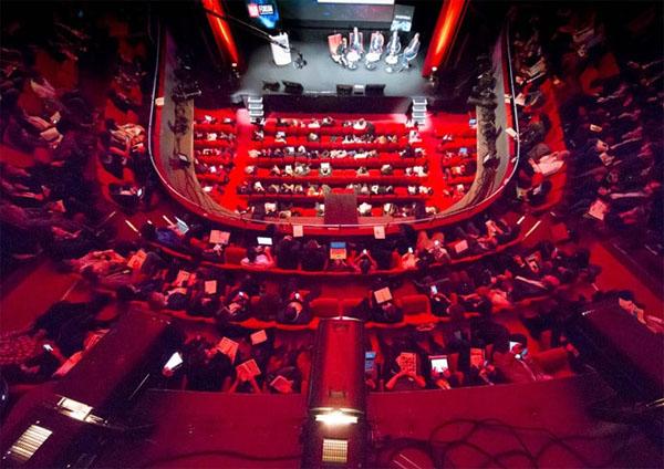 L'Espace Pierre Cardin : la salle de théâtre